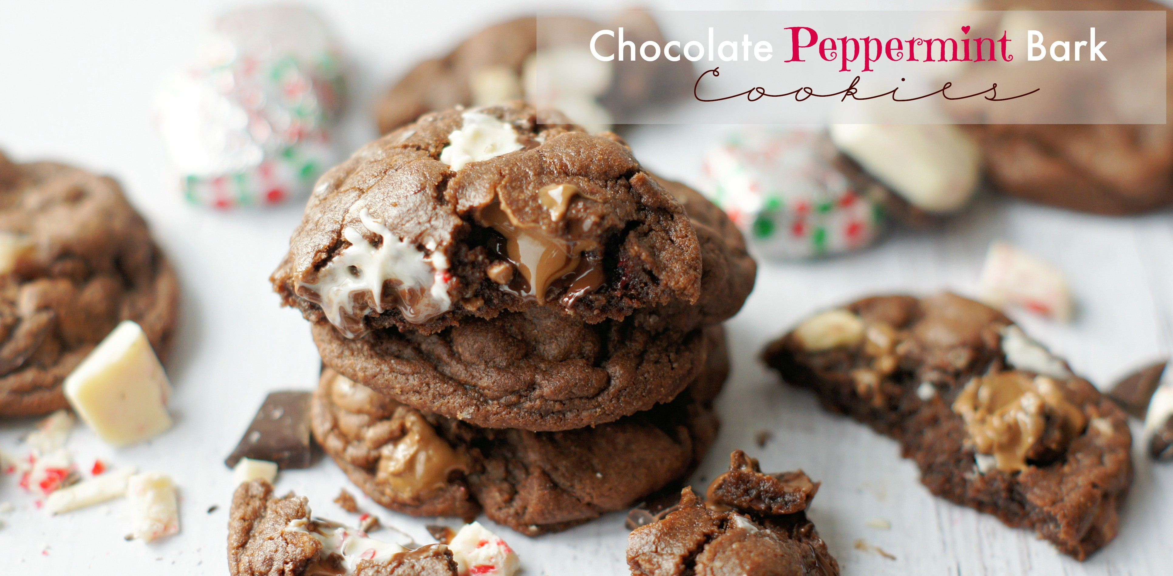Chocolate Peppermint Bark Cookies - 5 Boys Baker