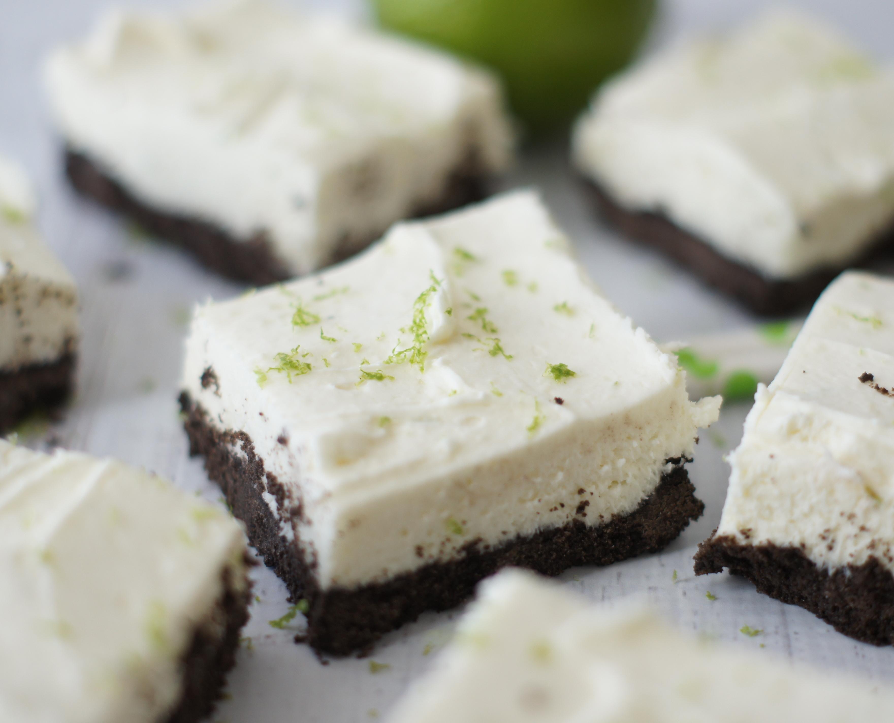 White Chocolate & Lime Cheesecake Bars - 5BoysBaker